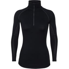 Icebreaker W's 200 Zone LS Half Zip Shirt Black/Mineral